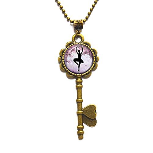 Collar de la llave de la bailarina para el collar de la s-Jewelry para la fiesta de la bailarina de los regalos de la pequeña s-bailarina-JV372