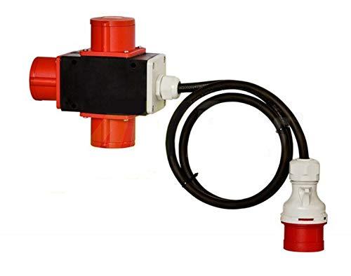 Baustromverteiler Stromverteiler CEE 16A 400V auf 3 x CEE 16A 1,5m Kabel IP44