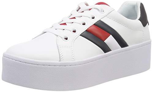 Hilfiger Denim Damen Tommy Jeans ICON Sneaker, Rot (RWB 020), 39 EU