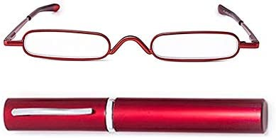 KAIBSEN Metal Frame Rimmed Slim Reading Glasses Classic Readers in Slim Pen Clip Portable Hard product image