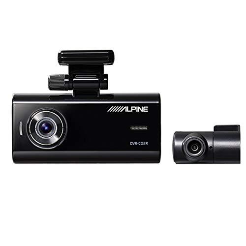 ALPINE(アルパイン)前後2カメラドライブレコーダーDVR-C02R前200万/後100万画素FullHDノイズ対策済LED信号対応専用microSD(32GB)付1年保証GセンサーGPS高速起動駐車監視