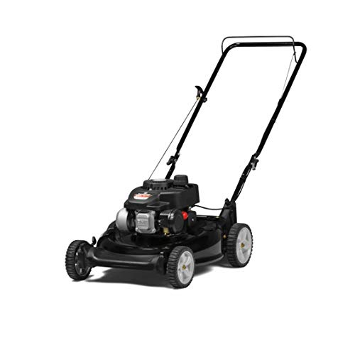 Yard Machines 140cc OHV 21-Inch 2-in-1 Push Walk-Behind Gas Powered Lawn Mower - Perfect for Small to Medium Sized Yards - Side Discharge and Mulching Capabilities, Black