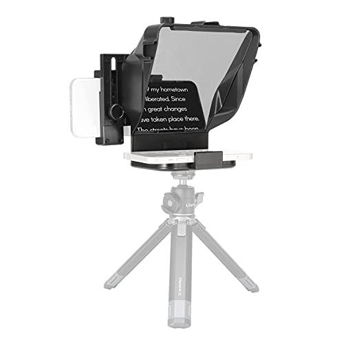 Mini Teleprompter portátil para Youtube Tiktok Video Live Streaming, teléfono, cámara DSLR, Grabador de vídeo móvil, artefacto con Control Remoto (Color : For Phone~with Stand)