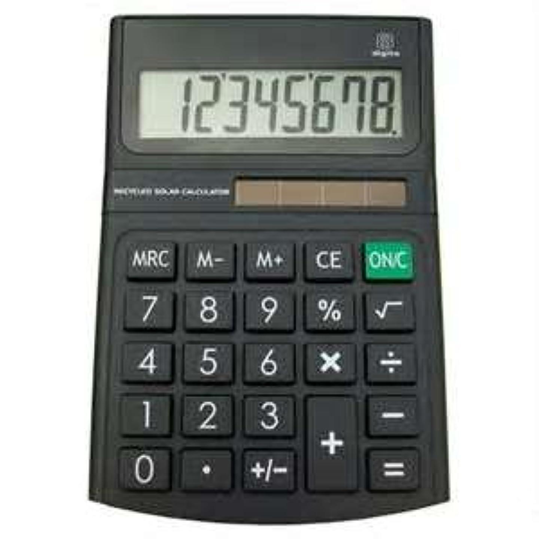 適応的悪用慢な8桁ソーラー電卓