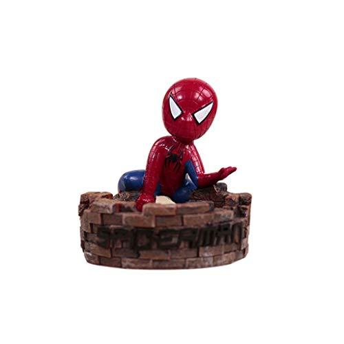 FABAX Asbak Asbak met Deksel Spiderman Masker Helm Hars Hand Maak Asbak Thuis Buiten Kerstmis Binnen outdoor