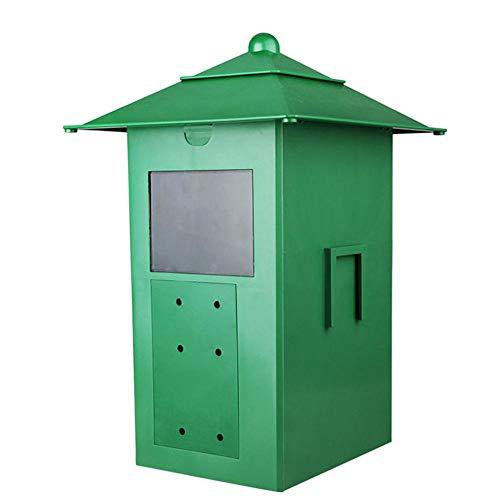 SODIAL Automatischer Futterspender für Aquarien, Teich, Fischteich, automatischer Futterautomat, für den Außenbereich, regendicht, 5 l