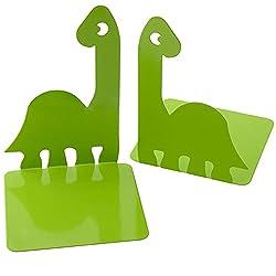 1. Artkingdome Cute Prehistoric Kids Dinosaur Bookends
