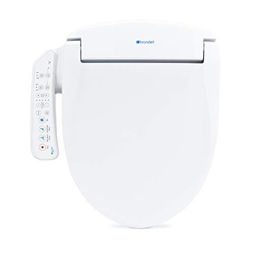Brondell Swash SE400 Seat, Fits Round Toilets, White – Bidet – Oscillating Stainless-Steel Nozzle, Warm Air Dryer, Ambient Nightlight