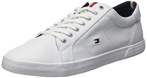 Tommy Hilfiger Long Lace, Iconic Sneaker Lungo in Pizzo Uomo, Triplo Bianco, 43 EU