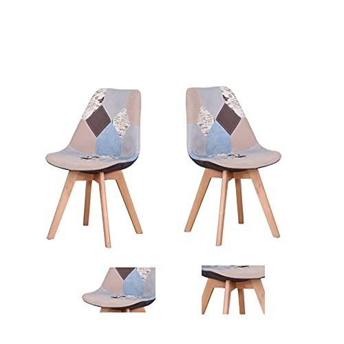 Sillas de comedor/silla de oficina/sillas para sala de estar/sillas de comedor de estilo moderno mediados de siglo con silla de plástico acolchada para cocina comedor sala de estar (torre de hierro-bb, 2)
