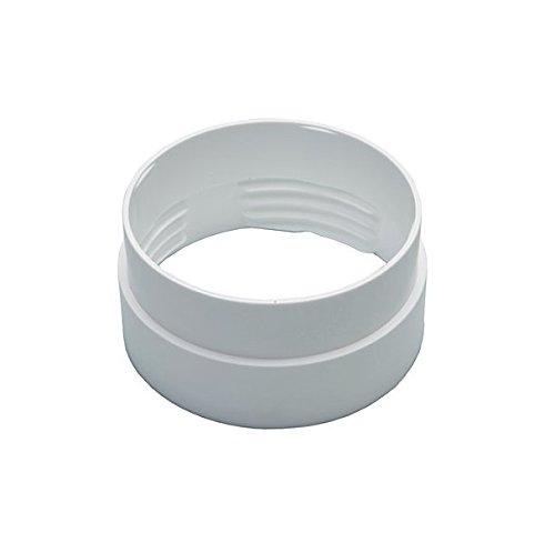 Invero® Rundes Innengewindeschlauch (100 mm) zum Verbinden von flexiblen Luftführungsschläuchen