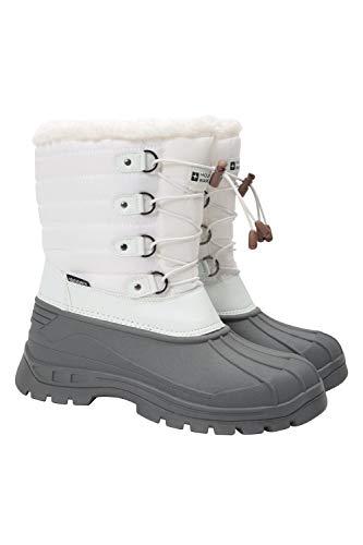 Mountain Warehouse Whistler Womens Schneeschuhe - Sherpa-Fleece Futter, Kunstfell, Schneefest - Winter Weiß 39 EU