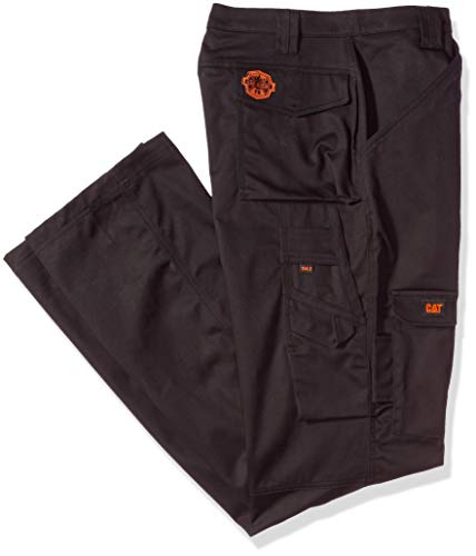 Caterpillar Men's Big and Tall Flame Resistant Cargo Pants (Regular and Big & Tall Sizes), fr Black, 34W x 36L