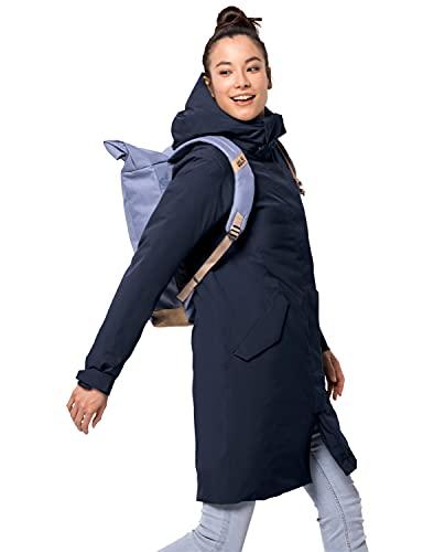 Jack Wolfskin Cold Bay Coat W Abrigo, Azul Medianoche, S para Mujer