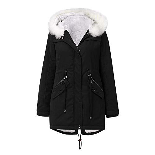 SMTM Damska kurtka bawełniana płaszcz polarowy średniej długości kurtka z kapturem utrzymująca ciepło plus aksamit płaszcz damski kurtka puchowa, sweter z dzianiny