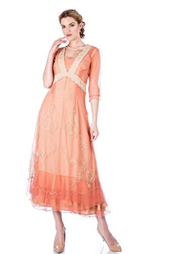 Nataya 40701 Women's Titanic Vintage Style Wedding Dress in Rose/Gold (XL)