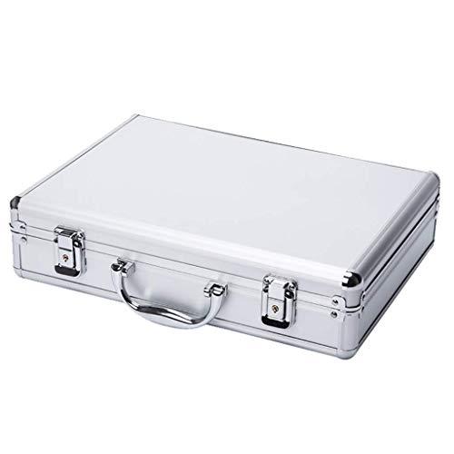 XBSXP Estuche de Aluminio para Pistola, Caja de Herramientas de Almacenamiento con Cerradura, con Estuche de Vuelo portátil de Espuma Acolchada para cámaras, Herramientas, Piezas y acces