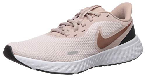Nike Women's Revolution 5 Running Shoe, Barely Rose/Metallic Red Bronze-Stone Mauve, 5 Regular US