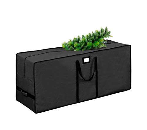 """Christmas Tree Storage Bag, Waterproof Christmas Tree Storage, Fits Up to 9 ft Tall Artificial Disassembled Trees ,Extra Large Heavy Duty Storage Container with Handles (Black, 65""""x15""""x30"""")"""