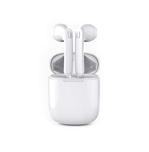 Wireless Earbuds Bluetooth 5.0,Wireless Bluetooth Headphones with Deep Bass HiFi Stereo Sound,Built-in Mic Earphones with Portable Charging Case,Compatible with Android/iOS,Work/Travel/Gym