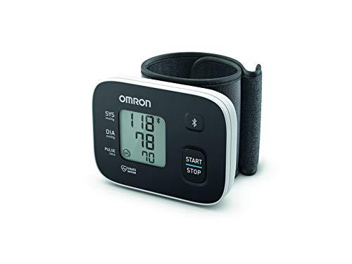 OMRON RS3 Intelli IT - Tensiómetro de muñeca con conectividad Bluetooth para uso doméstico o externo, color negro