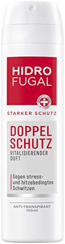 Hidrofugal Doppel Schutz Spray (150 ml), starker Anti-Transpirant Schutz gegen stress- und hitzebedingtes Schwitzen, Deo Spray für starken Schutz ohne Ethylalkohol
