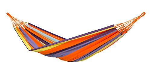 AMAZONAS XXL hangmat Colombiana Mandarina 240cm x 160cm tot 200kg in bonte gestreept