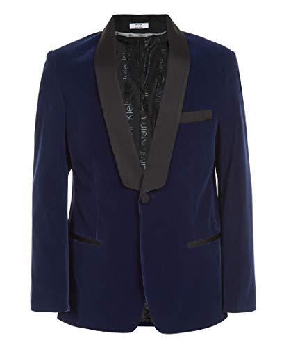 Calvin Klein Boys' Big Formal Suit Jacket, Imperial Blue, 14
