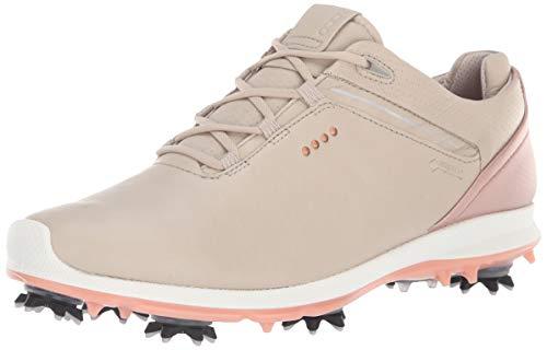 ECCO Women's Biom G 2 Free Gore-TEX Golf Shoe, Oyster Yak Leather, 11-11.5