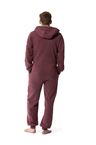 Jumpster Damen und Herren Jumpsuit Weicher Onesie Exquisite Regular Fit Rot - 4
