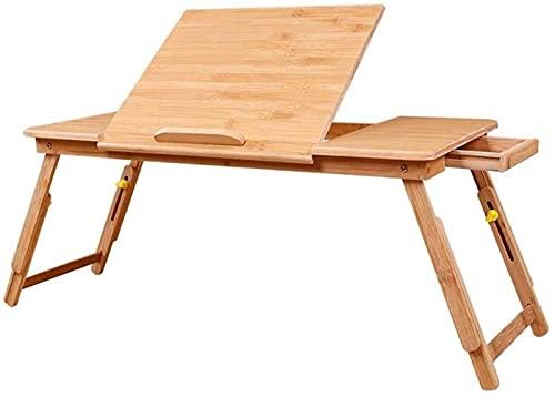 DZCGTP Escritorio Creativo para Cama, Mesa para Ordenador portátil, Escritorio pequeño de elevación Simple, Mesa Perezosa, Mesa de Aprendizaje extraíble, Mesa Plegable Plana