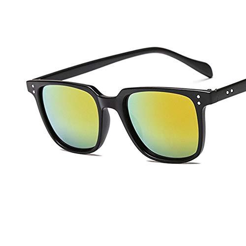 XIELH Gafas de sol Moda Cuadrado Retro Naranja Hombres Mujeres Gafas de...