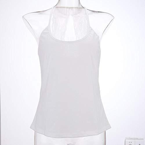 MWJYF Women'S Vest Mode Kant Womens Tank Top Casual O Nek Vrije tijd Lichtgewicht Ademende Splicing Mouwloos T-Shirt Voor Vrouwelijke Kleding