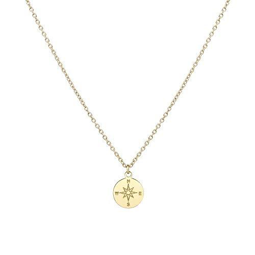 Purelei Halskette Kompass (Kompass-Gold)