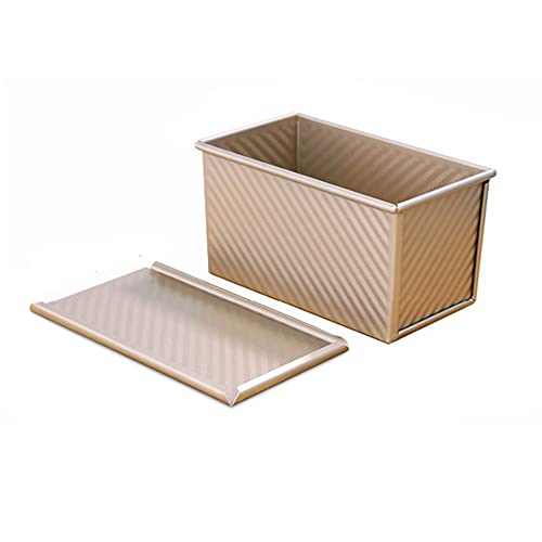 ZKG Cake Mold with Lid Loaf Pan Rectangle Non Stick Carbon Steel Bread Baking Mould Muffin Pan Cupcake Tray Party Kitchen Bakeware