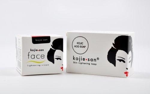 Kojie San Skin Lightening Soap and Lightening Face Cream - Combo by Kojie San