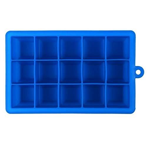 XGQ 15 cuadrículas Bricolaje Big Ice del Molde del Cubo de Hielo del silicón Forma Cuadrada Bandeja de Frutas for Hacer Helado (Verde) (Color : Dark Blue)
