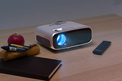Philips NeoPix Easy+ Mini Video Projector, 80 Inch Display, Wi-Fi Screen Mirroring, Bluetooth, Built-in Media Player, HDMI, USB, microSD, 3.5mm Audio Out Photo #7