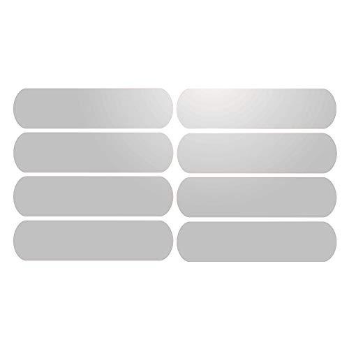 8 Bandes Adhésives Réfléchissantes pour Signalisation sur Casque 8x2 cm Blanc Réfléchissant
