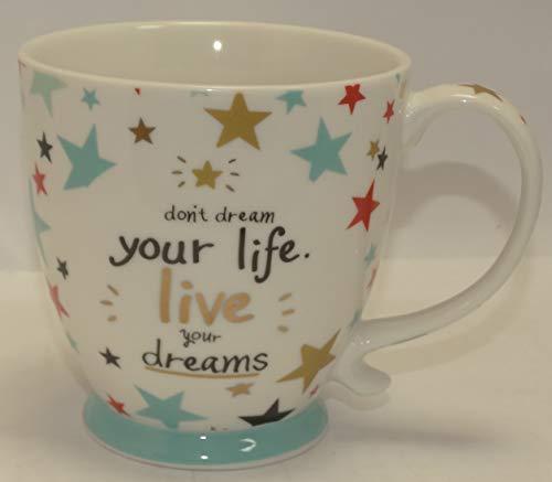 Cha Cult Tasse mit Zitat a Beautiful Life is a Collection of Unforgettable Moments Porzellantasse für Kaffee oder Tee