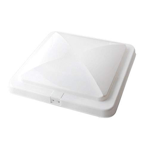 Cubierta ventilación techo RV, MoreChioce 35,5 x 35,5 cm, universal, blanco, tapa ventilación plástico resistente a los impactos, tapa ventilador repuesto RV, caravana, remolque, autocaravana, baño