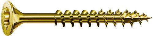 ABC Spax - Tornillos para conglomerado (1000 unidades, T-Star, varios tamaños), color dorado