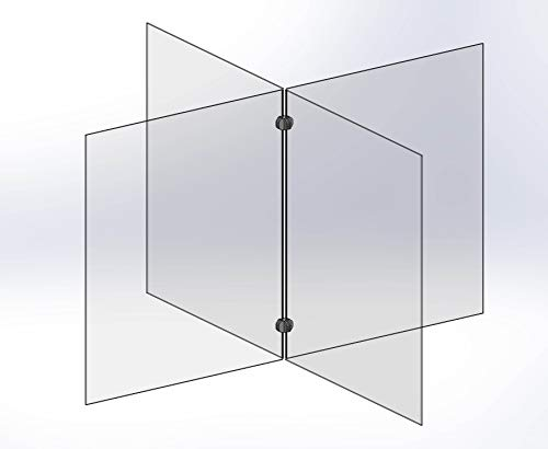 Cafeteria and Classroom Plexiglass Table Divider - 40'W x 24'H - By Accelevation - Orders Received by 2:00 EDT Ship Same Day