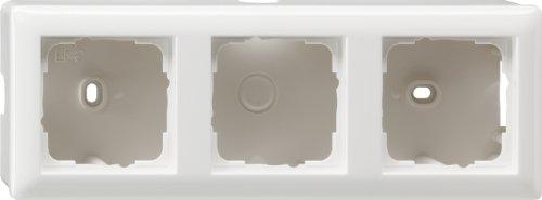 Gira 006303 Aufputz-Gehäuse mit Rahmen 3-fach Reinweiß glänzend
