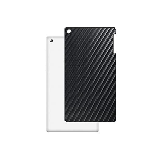 VacFun 2 Piezas Protector de pantalla Posterior, compatible con lenovo TAB2 A7-30TC 7' TAB 2, Película de Trasera de Fibra de carbono negra Skin Piel