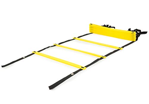 Prosource Fit Speed Agility Ladder 20 rung for Speed Training and Sports Agility Workouts with Free Carrying Bag