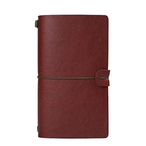 Schrijfboek van leer A6, handmeter, portemonnee, klein boek, creatief, 3 stuks