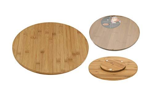 Excellent Houseware–k777806Piatto Girevole in bambù, holzfarbe, 35x 35x 3,5cm