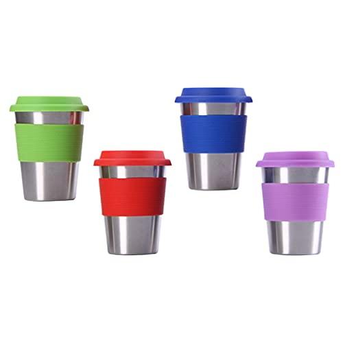 #N/a Vaso de agua de viaje en casa de 4 tazas de acero inoxidable, perfecto para interiores y exteriores para niños y adultos - 500ml