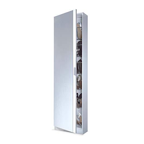 Habitdesign 007866BO - Armario zapatero con espejo, color Blanco...